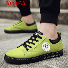 ShoeAll 1 Pair Men Casual Sneakers Loafers Fashion Quality Men Shoe Classic green 39