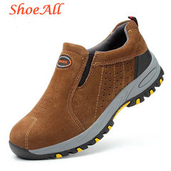 ShoeAll 1 Pair Men Casual Sneakers Loafers Fashion Quality Men Shoe Classic brown 36