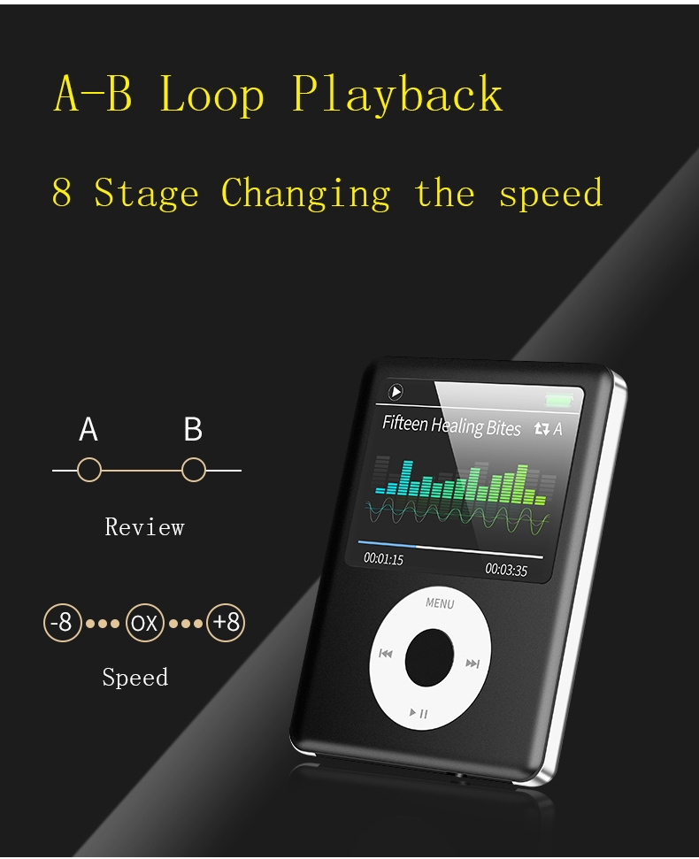 Mp3 Mp4 16G Music player with 2.0in screen,Support SD/TF/miniSD Card, recording,FMRadio Mini Digital green 4