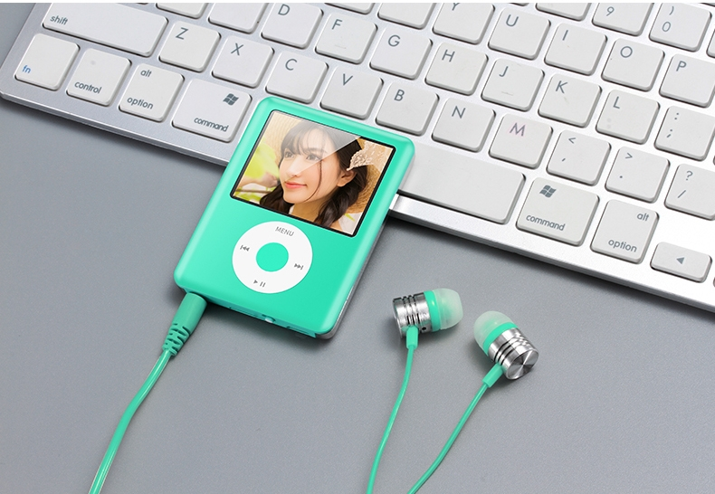 Mp3 Mp4 16G Music player with 2.0in screen,Support SD/TF/miniSD Card, recording,FMRadio Mini Digital green 7
