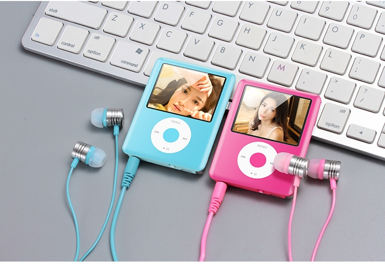 Mp3 Mp4 16G Music player with 2.0in screen,Support SD/TF/miniSD Card, recording,FMRadio Mini Digital green 8