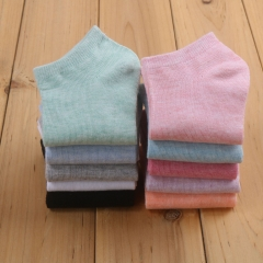 1 pair of Women's cotton socks candy-colored  Breathable, Sweat-absorbent, Odor-proof AVERAGE RANDOM