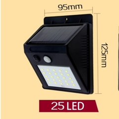 LED solar light outdoor home garden wall lamp waterproof human body induction street light 25LED 5.5W