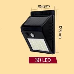 LED solar light outdoor home garden wall lamp waterproof human body induction street light 30LED 6W