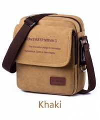 Men's Shoulder Bags Canvas Men's Crossbody Bags Casual Sports Bags Tide Cross Bags Briefcases Khaki One size