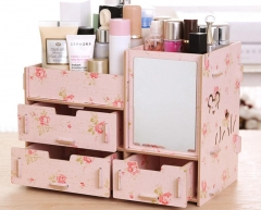 New fashion large hot tide new wooden storage box jewelry box flower normal