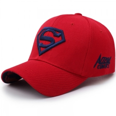 Men's and Women's Couples Superman Baseball Caps Fashion Casual Golf Hats for Men Red blue embroidery one size