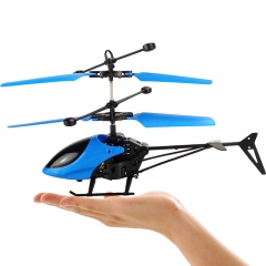 Children's adult toys Induction helicopter plane Remote control USB charging aircraft airplane blue 17.5*3.5*10