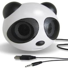 Panda small sound USB computer speaker Portable subwoofer loudspeaker horn loudspeaker white 3w panda