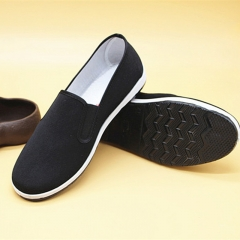 Old Beijing cloth shoes, men's canvas shoes, work shoes when working Yellow bottom 38