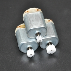 3Pcs/lot 130 Small DC motor 3 to 5V Miniature motor four-wheel motor small+(Gear package 3pcs Silver 3PCS