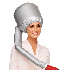 Practical Home Salon Barber Hair Dryer Bonnet Hood Head Cover Baked Oil Cap Hat Silver 39*23*100