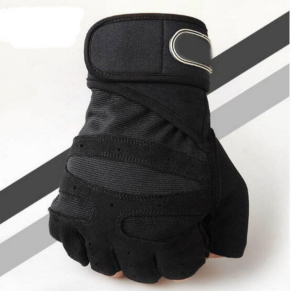 Fitness gloves heavyweight exercise weightlifting gloves fitness training sports fitness gloves black L