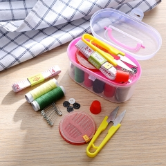 Travel Portable Family Sewing Sewing Kit Treasure Chest Sewing Kit Set Random Color 12*7.3cm