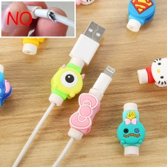 3pairs/lot Data line protector Headphone charging cable Fracture protection winding mobile phone Superman 10 pairs