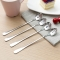 Stainless steel long handle spoon coffee spoon Stirring office banquet Exquisite spoon 1PC(Round head) 19*3cm