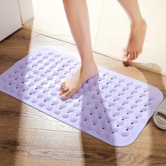 bathroom Non-slip mat Bathing shower mat With suction cup Massage foot Toilet Comfortable Purple 74*38cm