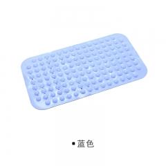 bathroom Non-slip mat Bathing shower mat With suction cup Massage foot Toilet Comfortable Blue 74*38cm