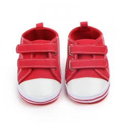 New Canvas baby sneakers girls boys newborn shoes baby children soft bottom slip shoe Toddler shoes red 11cm