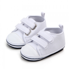 New Canvas baby sneakers girls boys newborn shoes baby children soft bottom slip shoe Toddler shoes white 12cm