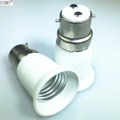 B22-E27 white 6A 220V conversion lamp holder white E27 6a