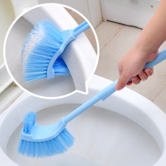 Portable Toilet Brush Scrubber Cleaner Clean Brush Back brush Bathroom brush Floor brush Dead corner blue 1pc