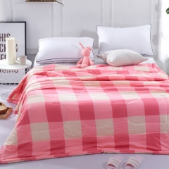 Svetanya thin quilted Quilt 150*200cm 200*230cm size bedding Throws Blanket Plaids 180x220cm Checkered red 150*200cm
