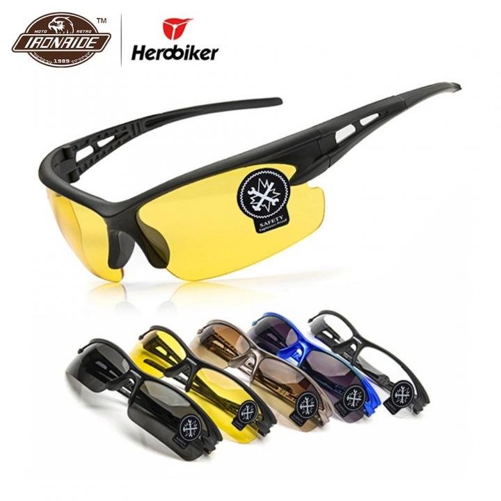 Motorcycle Glasses Men Night Vision Moto Cycling Riding Eyewear Motocross Goggles Oudoor Sunglasses Black