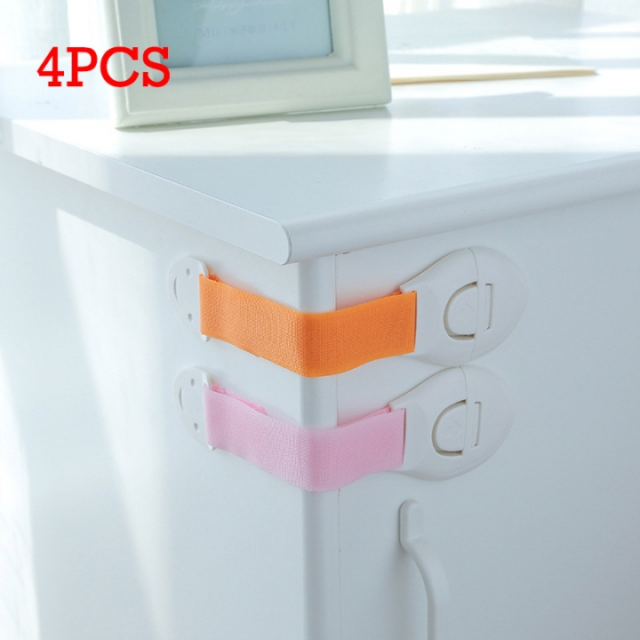 4pcs Home Kitchen Baby Safety Drawer Cupboard Right Angle Lock Latch Catch 4PCS 22*5cm