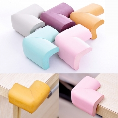 4pcs child safety products solid baby crash bar glass coffee table child protection strip Thicken random color 4pcs