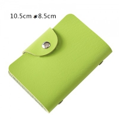 Men's Wallet Leather Visiting Cards Credit Card Holder Case Wallet Business Card Package Women's green