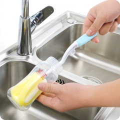 Two-piece suit Plastic Glass Milk Water Cup Cleaning Feeding Bottle Dummy Nipple Pacifier Brushes As shown one size