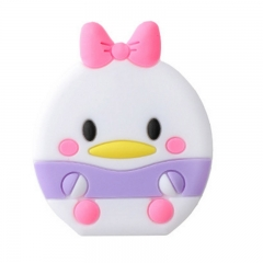 Silica gel Cartoon Airbag Mobile phone holder lovely adjustable Personality creativity duck 3PCS