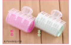 3psc hair curler curler curler plastic self-adhesive magic volume hair curling tools Pink 6.0*6.5cm