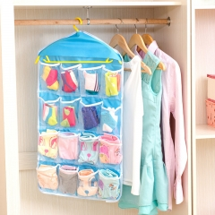 16 Grids Buggy Bag Receive Underwear and Socks Storage Organizer Save Vertical Space Random random