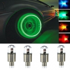 4pcs Car Motorcycle Bike Wheel Tire Tyre Valve Cap Neon LED Flash Rim Light Lamp blue