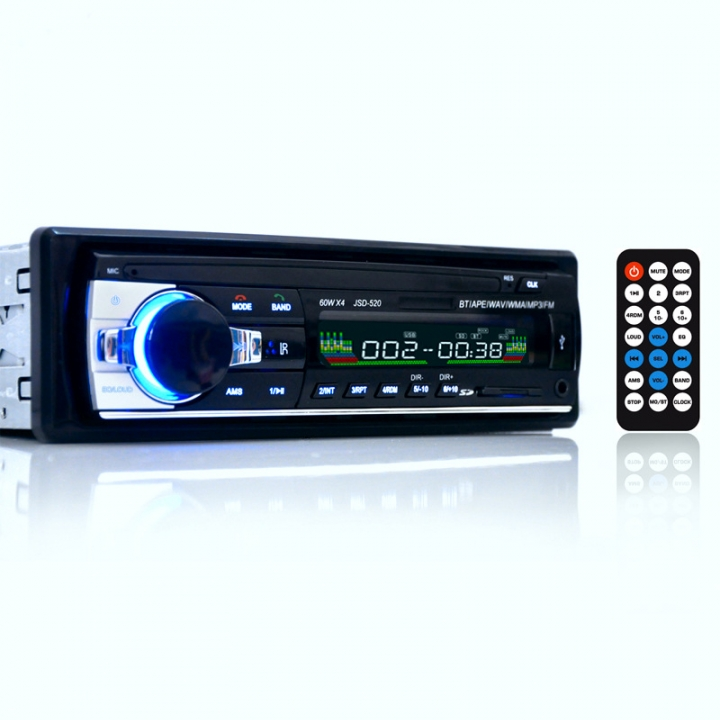 New 12V Car Stereo FM Radio MP3 Audio Player Support Bluetooth Phone with USB/SD MMC Port