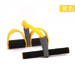 Fitness Pedal Exerciser Body Trimmer Chest Sit-up Pulling Rope Home Fitness Equipment yellow