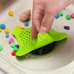 1Pc Silicone Sink Drain Filter Bathtub Hair Catcher Stopper Trapper Drain Hole Filter  for Bathroom random color 1pcs