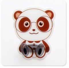 Wall Adhesive Plastic Power Plug Socket Holder Hanger Hook Powerful Paste Type Power Plug Power Plug panda 1pcs