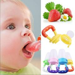 Baby Bottle Feeding Fruit Vegetable Music Newborn Food Supplement Bite Juice Feeder Baby Pacifier random color Big 9 months the above