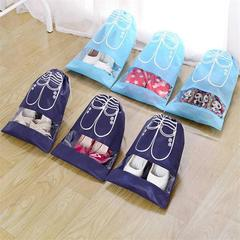 Waterproof Shoes Bag Pouch Storage Travel Bag Portable Tote Drawstring Bag Organizer Cover Non-Woven deep blue color 46 yards the following
