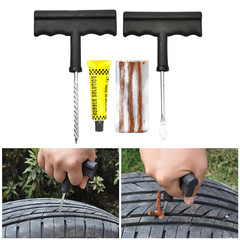 Car Tire Repair Tool Kit For Tubeless Emergency Tyre Fast Puncture Plug Repair Block Air Leaking
