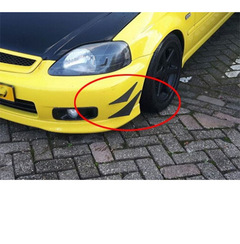 Car front bumper modified universal wind flow surrounded by small air knife 4 pieces black 132*120(mm)