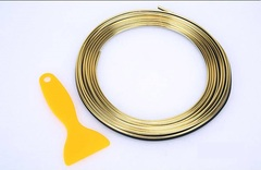 5M Adhesive Strips Car Interior Decoration Molding Door Line Vent Panel Direction Tuyere trim strip gold color 5M