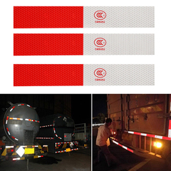 10pcs Reflective Tape Roll White and Red Trailer Conspicuity Dot Sfety Warming Tape Reflective Car White Red 10pcs