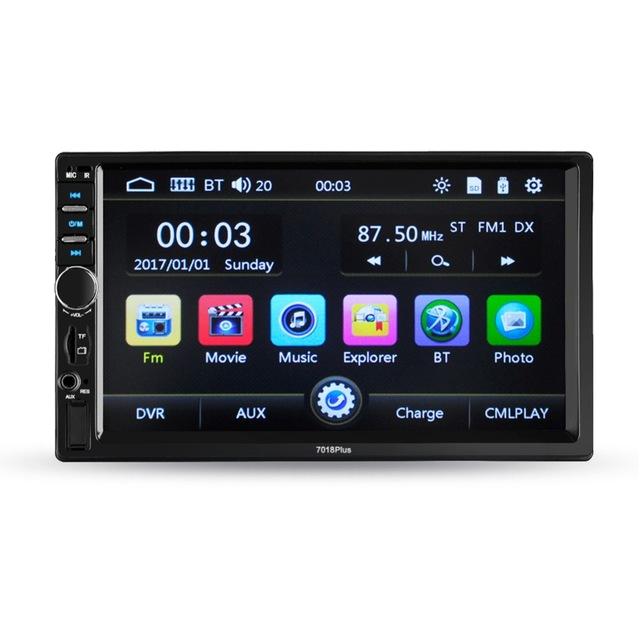 7 inch 2 Din universal car multimedia player HD Bluetooth car radio MP5 media player TF
