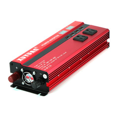 4000W/5000W Solar Car Power Inverter LED DC12/24V to AC110/220V Sine Wave Converter 4 USB Interfaces DC12V  to AC110V 31*10*5