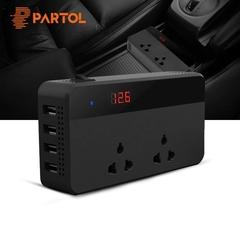 Patrol car inverter 12V 220V 200W power inverter voltage converter with 4 USB socket DC 12V 200w 150 x 77 x 34mm