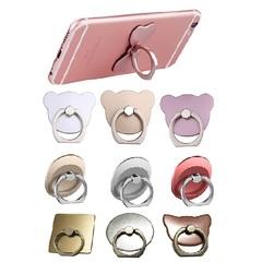 1PCS360 Degree Grip Mobile Phone Finger Bracket 3D Metal Ring Phone Stent Ring Bracket Handle Buckle random color 1pc